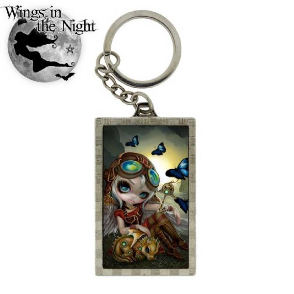 NEMESIS NOW Gothic Clockwork Dragonling 3D Steampunk Keyring